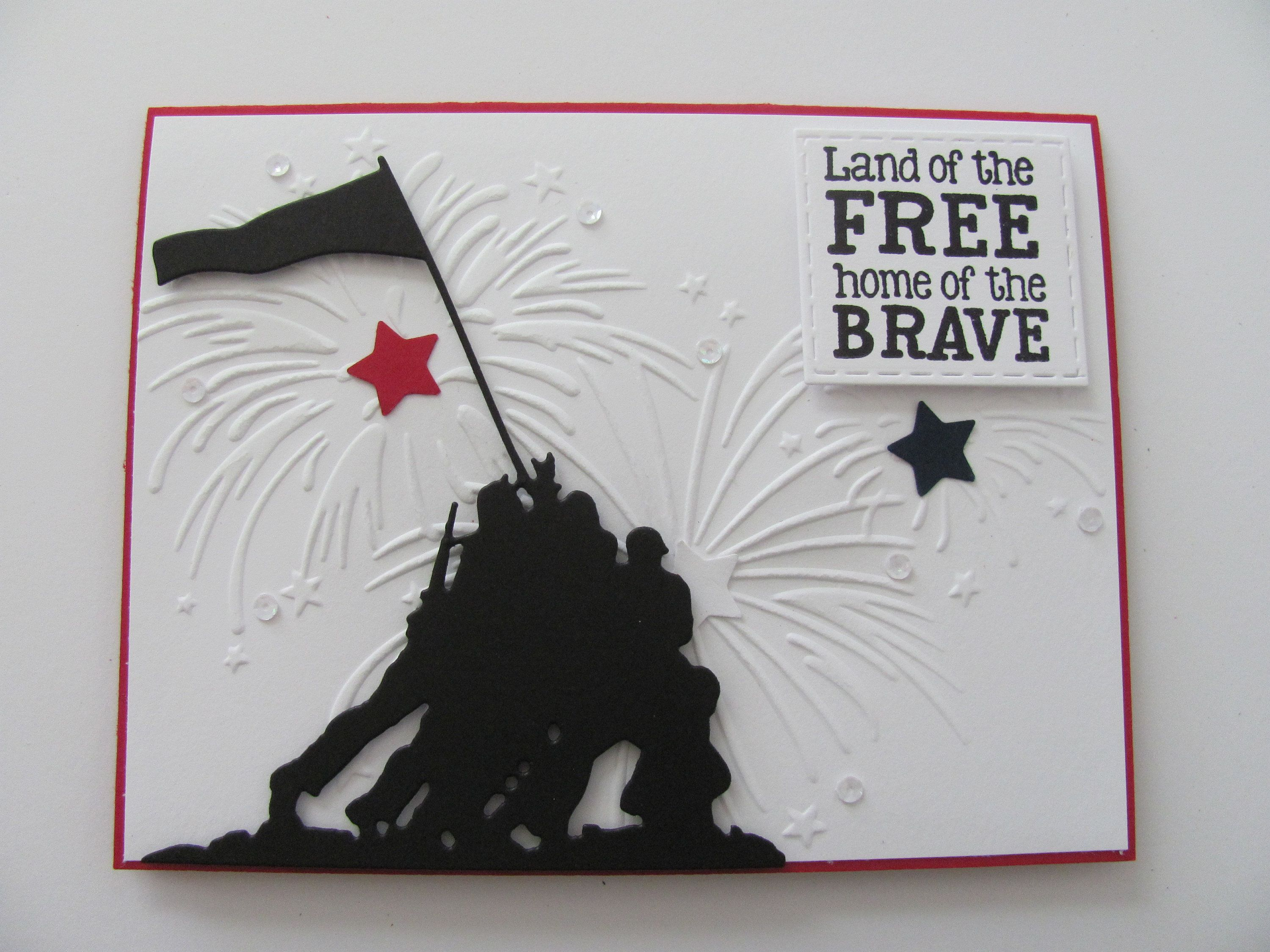 Patriotic Greeting Card, Veterans Day Card, Memorial Day Card, 4th of July Card, Independence Day Card, Iwo Jima Military Card, Fireworks
