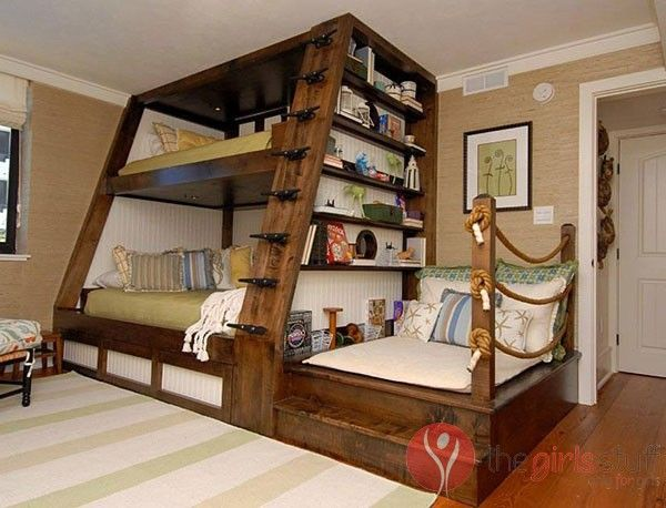 Triple Bunk Beds With Stairs Diy Bunk Bed Cool Bunk Beds Bunk Beds With Stairs