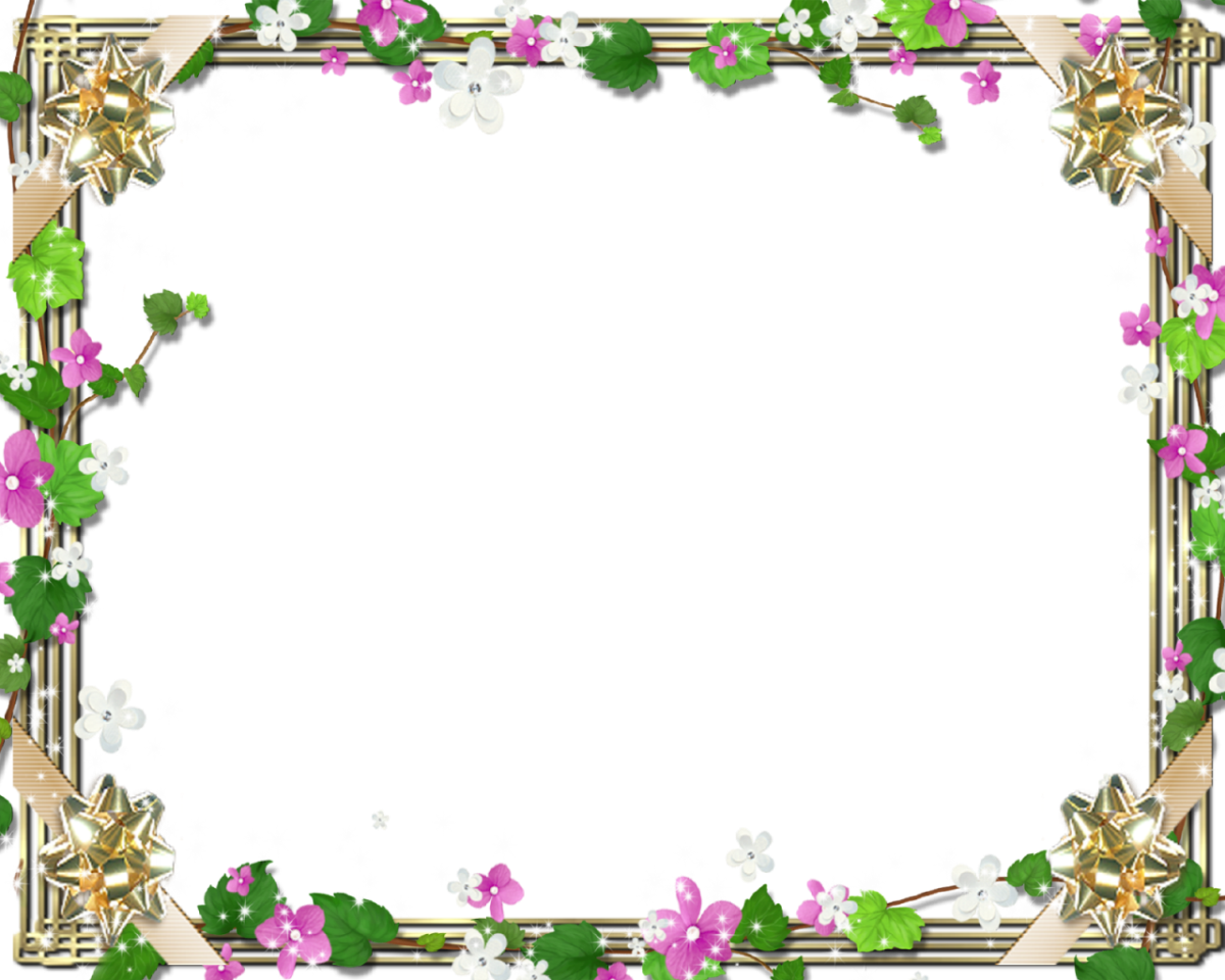Family-Picture-Frame-With-Cute-Flowers-and-Green-Bindweed | FRAMES ...