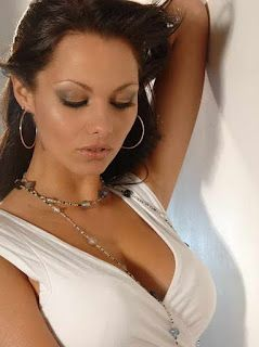 Jessica-Jane Clement in cool and modern white casual clothing fashion model.