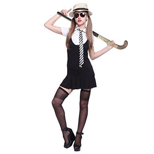 937e34febcc nice Sexy St Trinians School Girl Uniform Fancy Dress Hen Party Costume w   Hat Adult XL uk 14 16