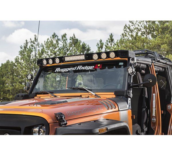 RUGGED RIDGE Elite Fasttrack Windshield Light Bar 07 17 Jeep Wranlger JK