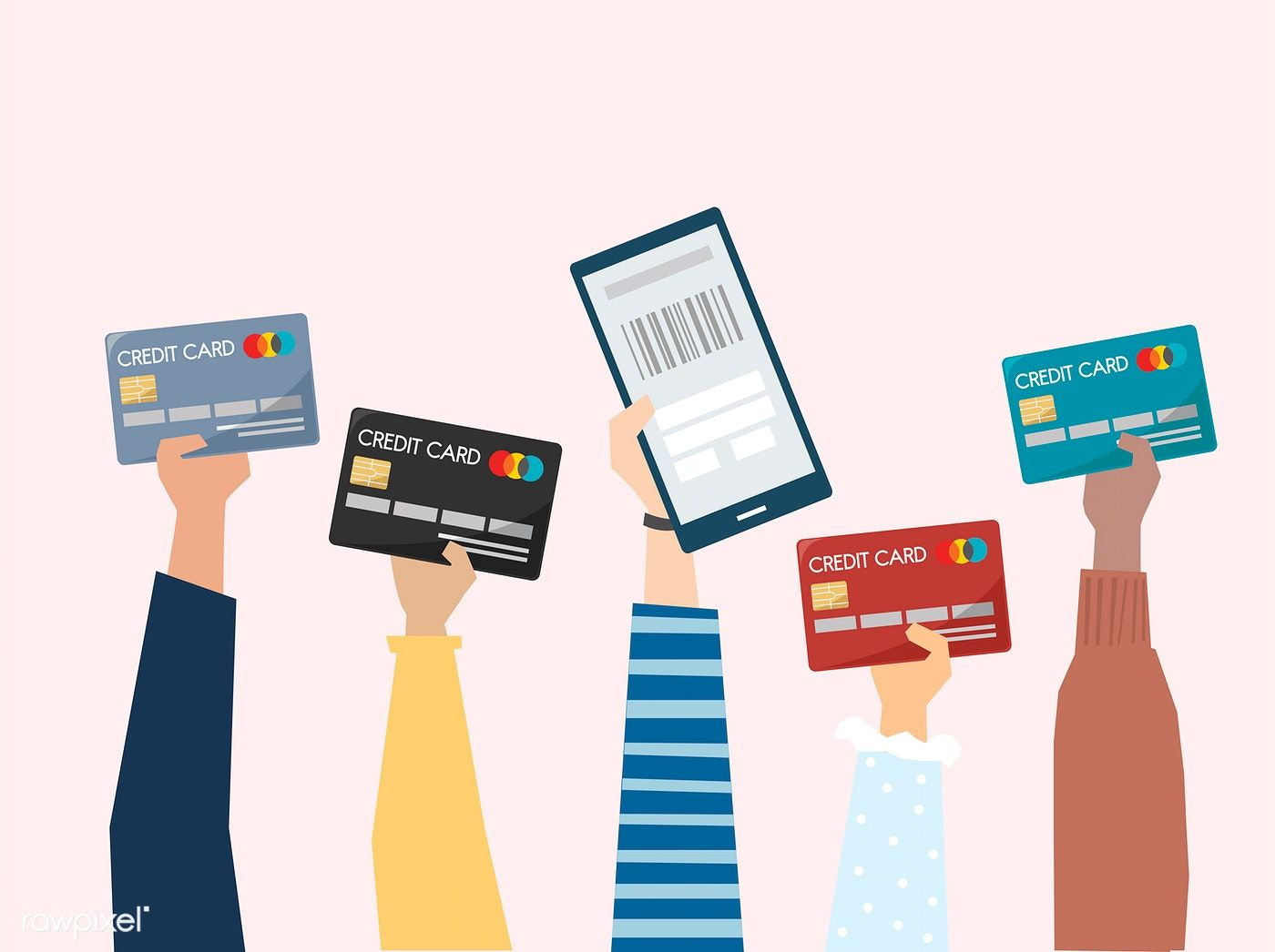 Illustration Of Online Payment With Credit Card Free Image By Rawpixel Com Sasi Card Illustration Credit Card Icon Credit Card Art