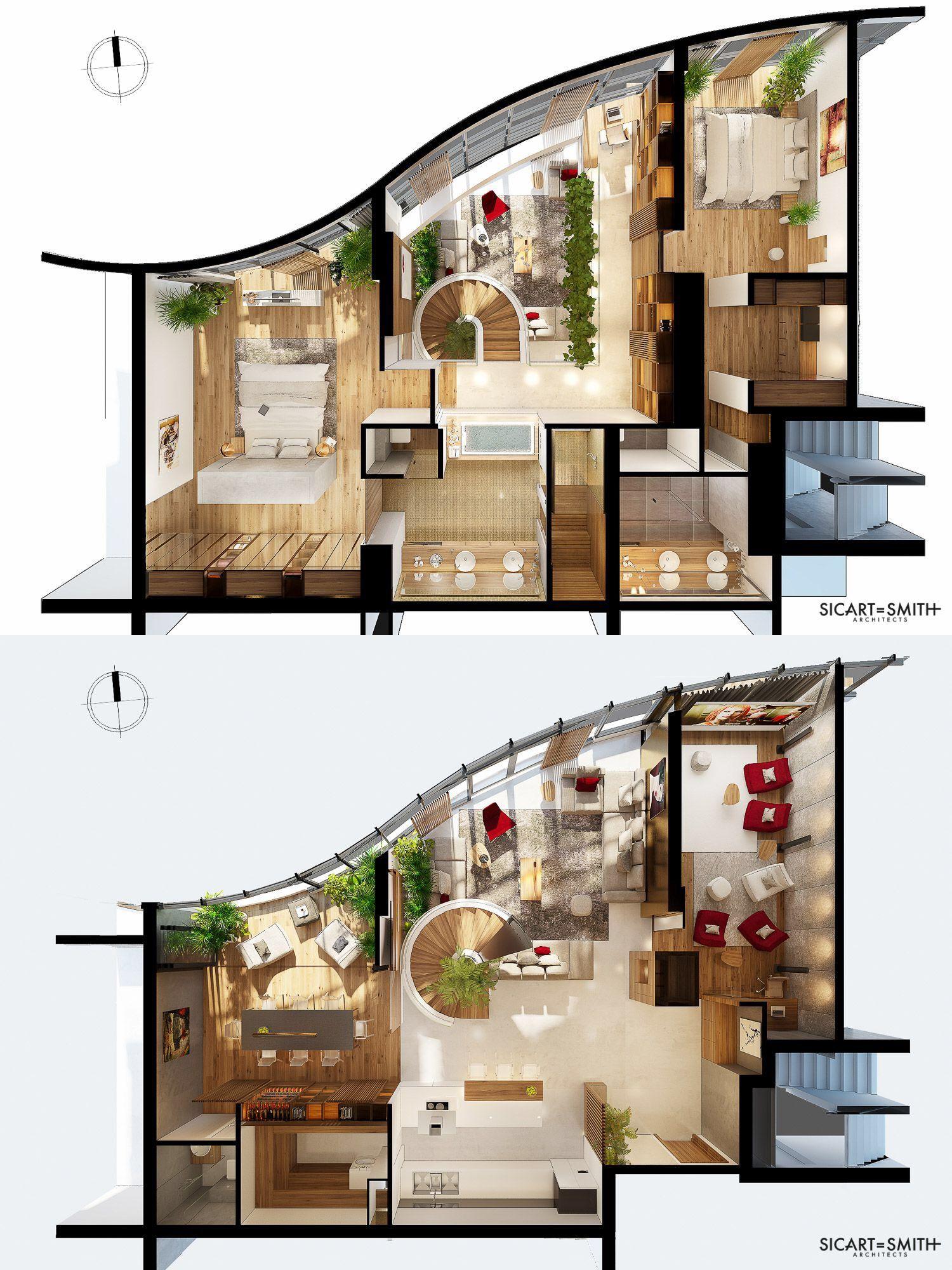 City Garden Ho Chi Minh City Duplex Penthouse Sims House Design House Construction Plan Home Building Design