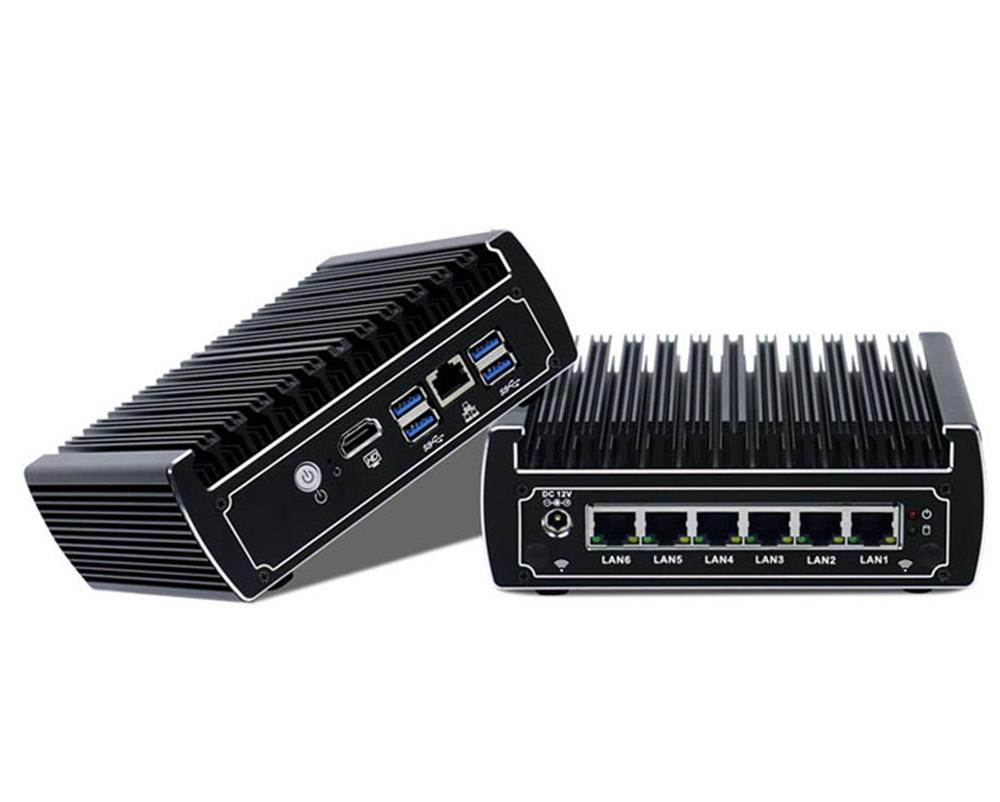 Mini PC Fanless Router For pfSense Firewall Intel Core i5