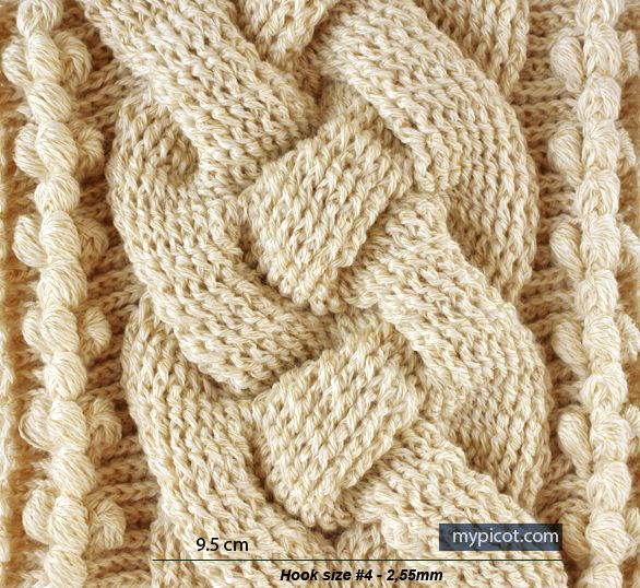 Crochet cable great photo tutorial, MyPicot // more cable patterns ...