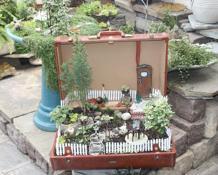 Miniature Mini Garden | Miniature Garden And Twig Furniture Photo Gallery