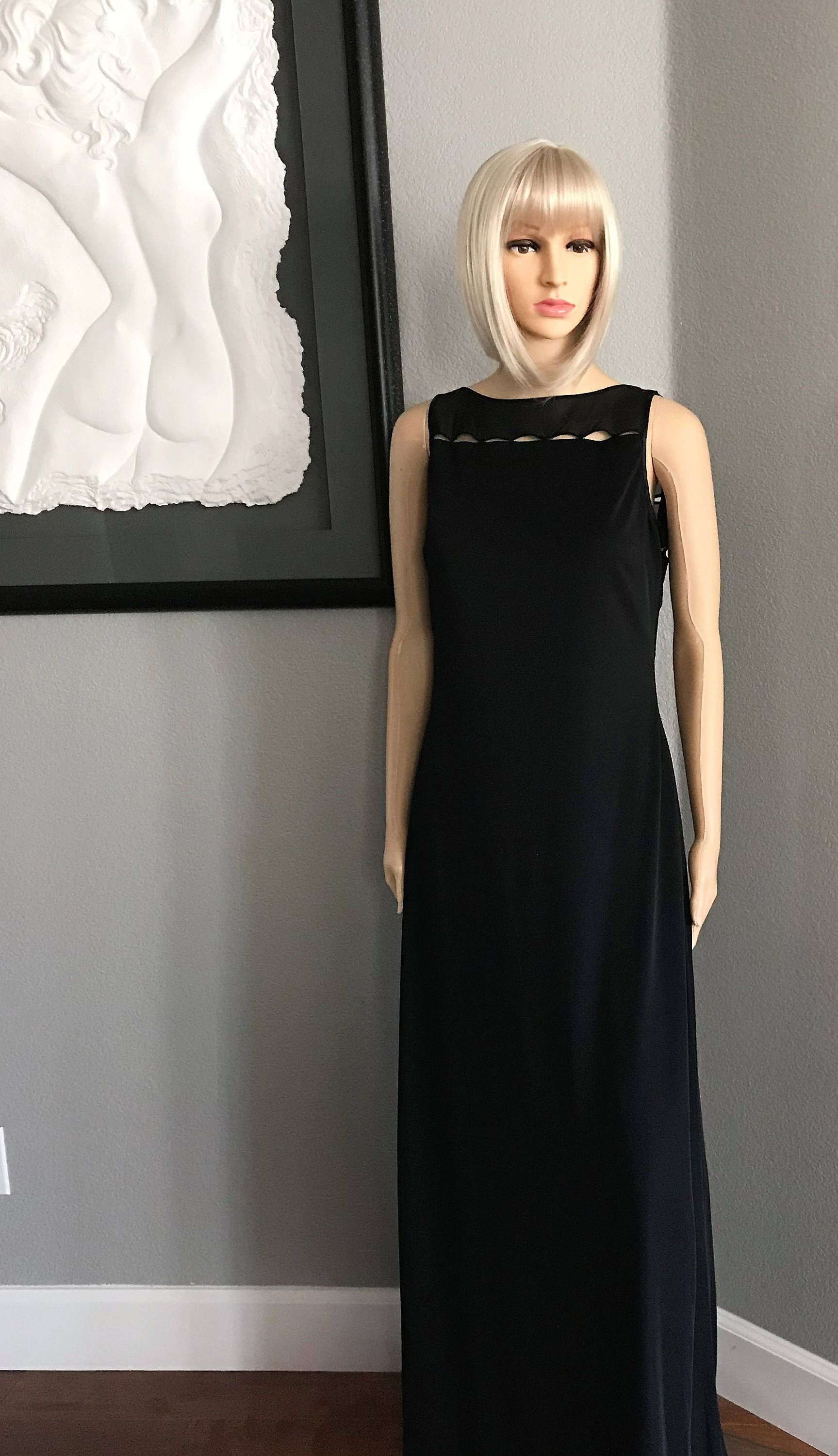 Rimini black evening gown, New Years Eve dress, Beaded dress ...