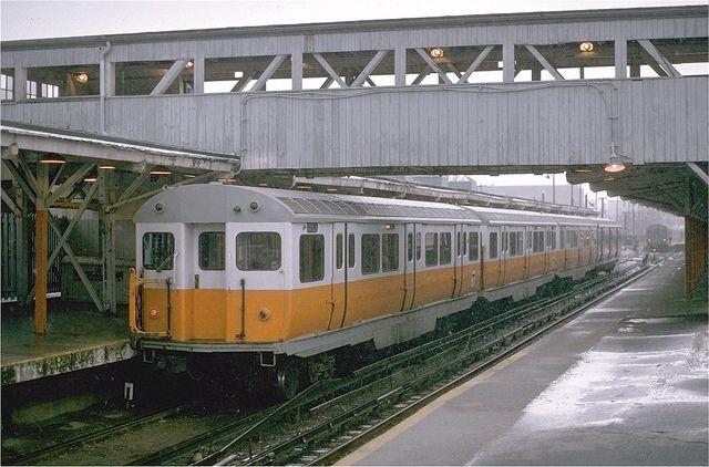 MBTA Orange Line Pullman Rapid car 01153 at Everett Station