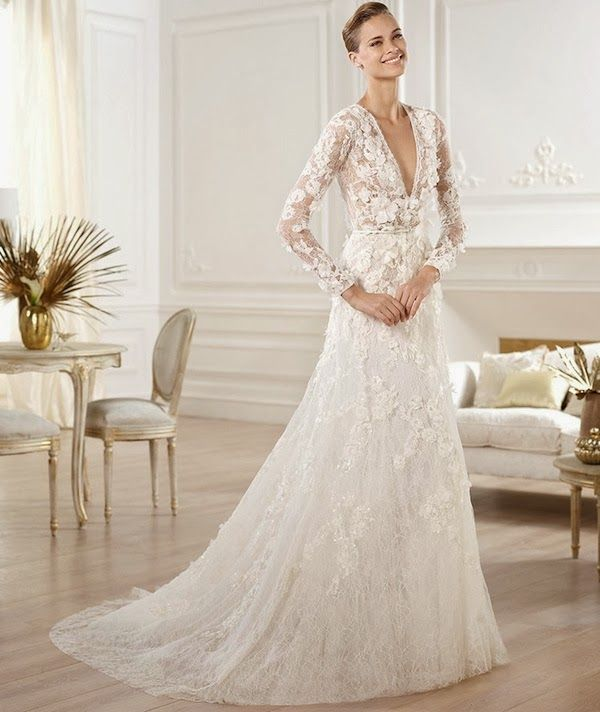 20 Pretty Perfect Long Sleeve Wedding Gowns | Wedding blog, Wedding ...