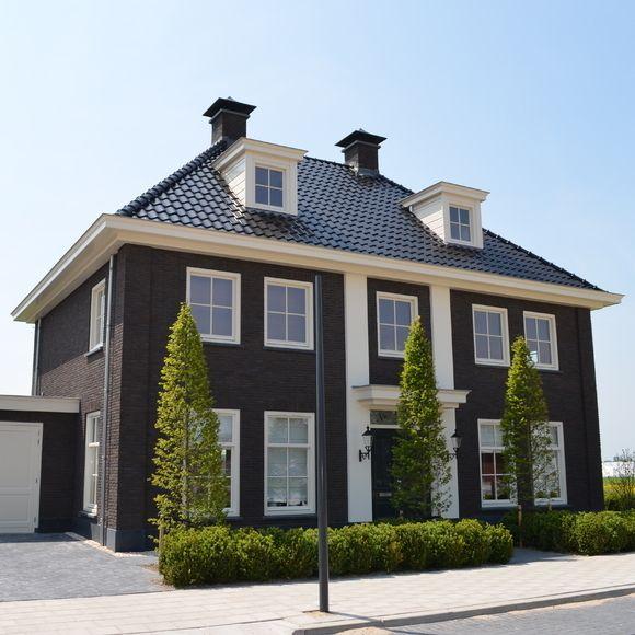 Notariswoning houten trap twee kleuren pinterest huizen mooie huizen en droomhuizen - Exterieur modern huis ...