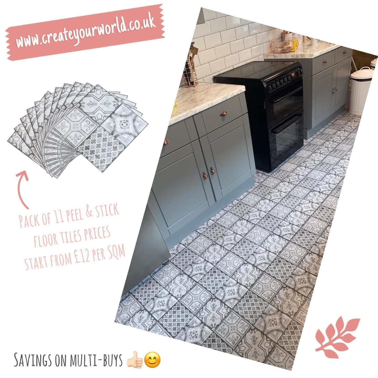 Lauren Jade Firth made a good choice for her new floor using our Moroccan Grey floor tiles, easy peel and stick solution, hardly any DIY skills necessary! 👌🏻 . . . . . #vinyl #renovation #lantaikayu #homedecor #flooring #interiordesignermalaysia #woodfloor #oakflooring #kitchenremodel #lvtflooring #interiorrumahminimalis #lantaivinyl #flooring skirting #wallpaneling #vinylcollection #peelandstickflooring #flooringexperts #interior #inspirasirumahidaman #kitchenfloor #floor #spcfloor #dekorasir