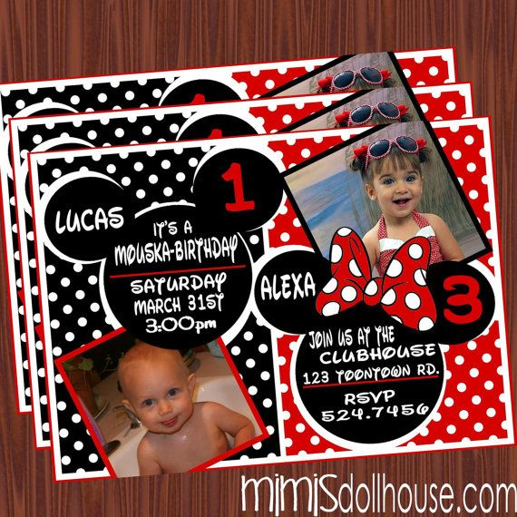 Mickey Mouse Invitation Minnie Mouse Printable Invitation – Mickey and Minnie Party Invitations