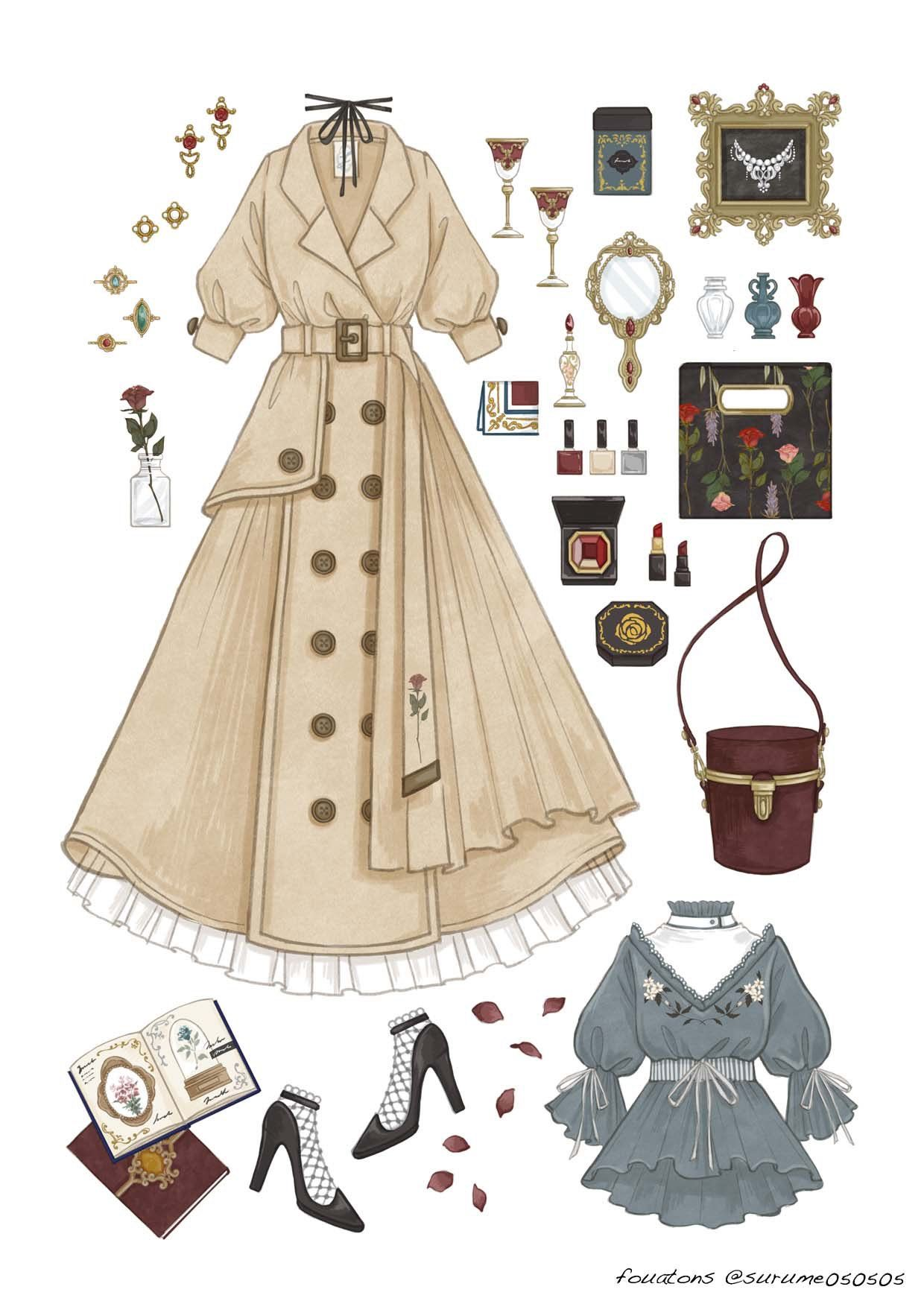 Pin By Mae Molina On Outfits ファッションデザイン画 ファッション