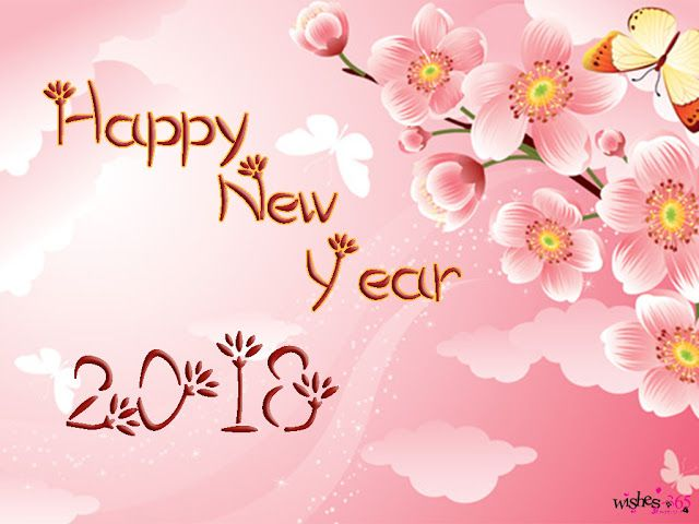 poetry and worldwide wishes happy new year 2018 image for background