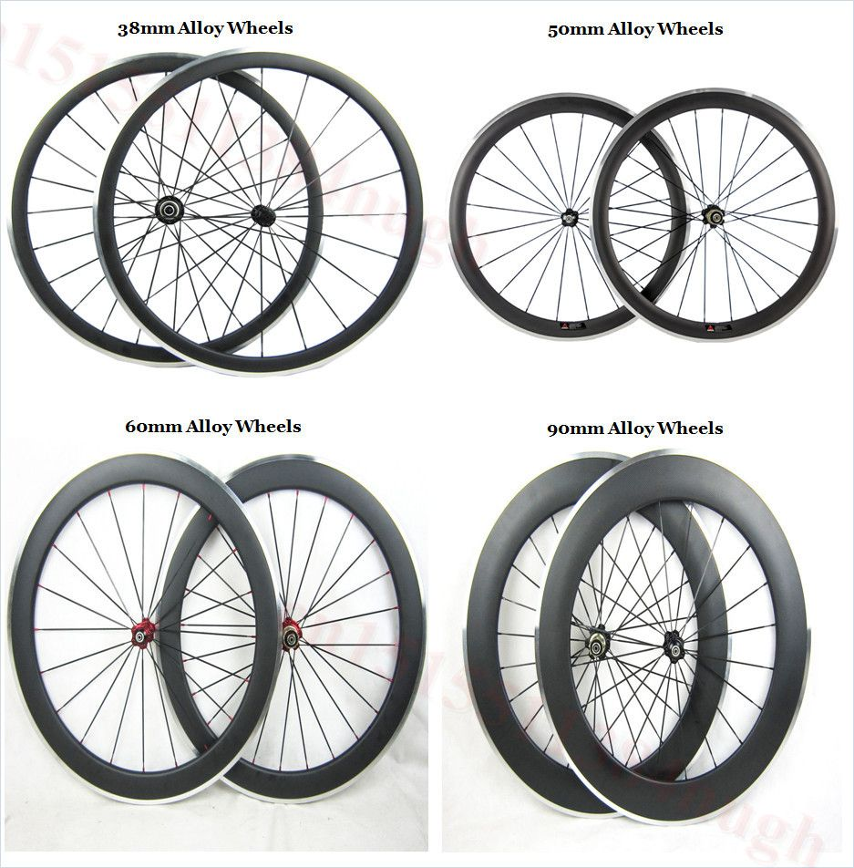 Bicycle Wheels Road Bike 38mm 50mm 60mm 90mm Carbon With Alloy