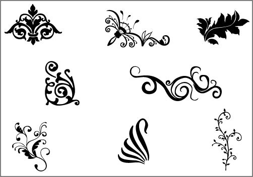 Interior Design Line Art Vector : Flower vector graphicssilhouette clip art