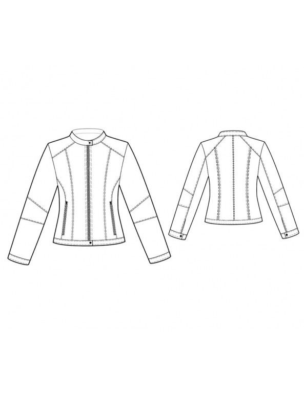 Fashion Designer Sewing Patterns - Multi Seamed Bicker Jacket ...
