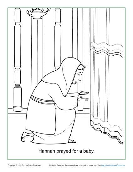Hannah Prayed For A Baby Coloring Page Sunday School Coloring