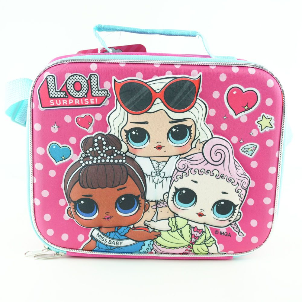 "LOL Surprise Large School Backpack LOL Doll 16/"" Girls Book Bag Work It BB"