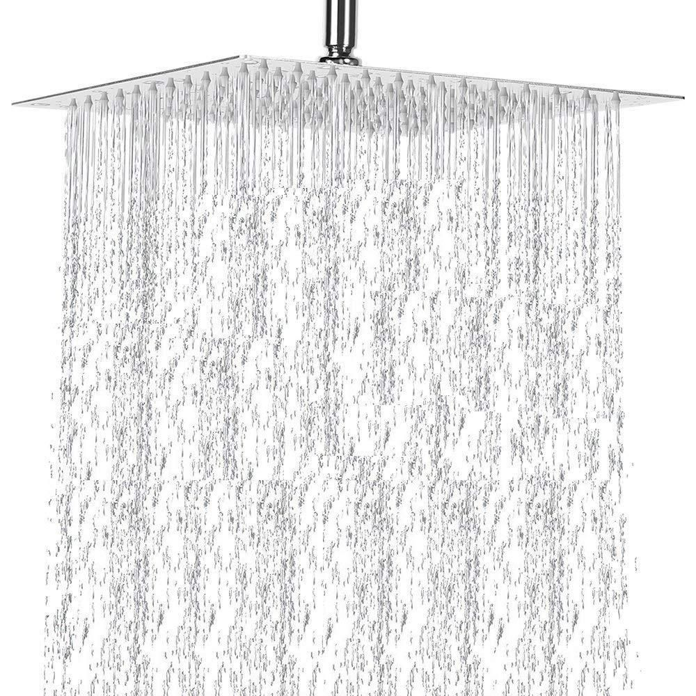 8 Stainless Steel Rainfall Shower Head Waterfall Rain Chrome