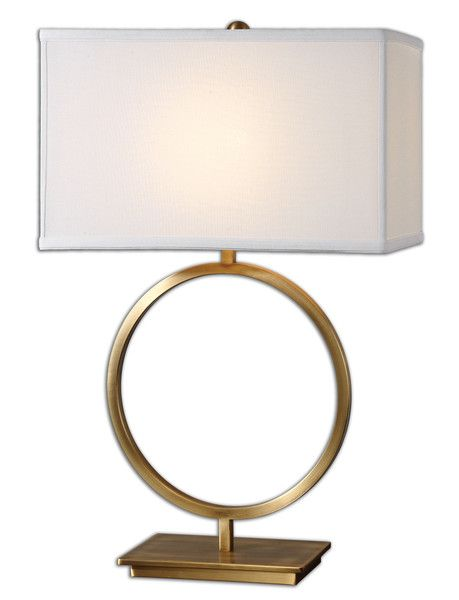 Brass Ring Table Lamp Traditional Table Lamps Table Lamp