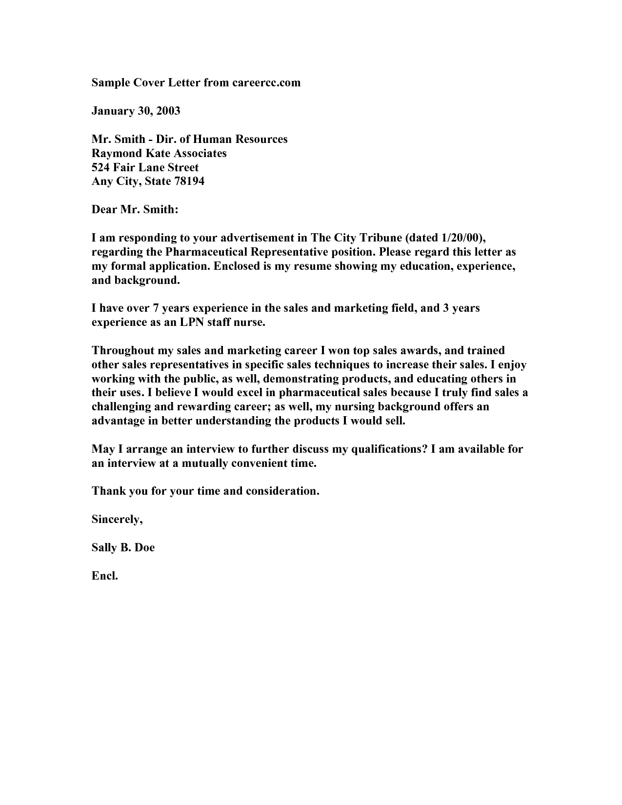 Nurse Cover Letter Example Cover Letter Example For Nurses New Grad