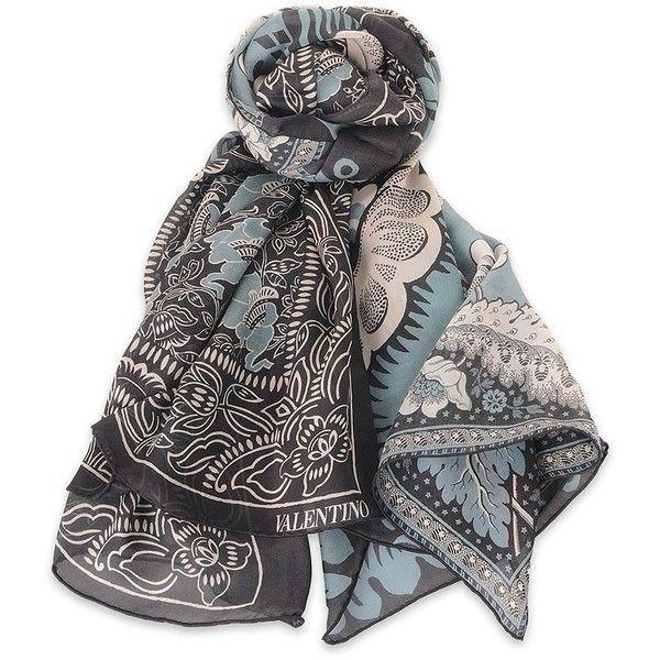 floral print scarf - Black Valentino sjIK4g3lz