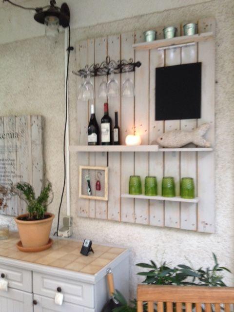 Bar mural fait avec une palette Aménagement maison Pinterest - construire un bar de cuisine