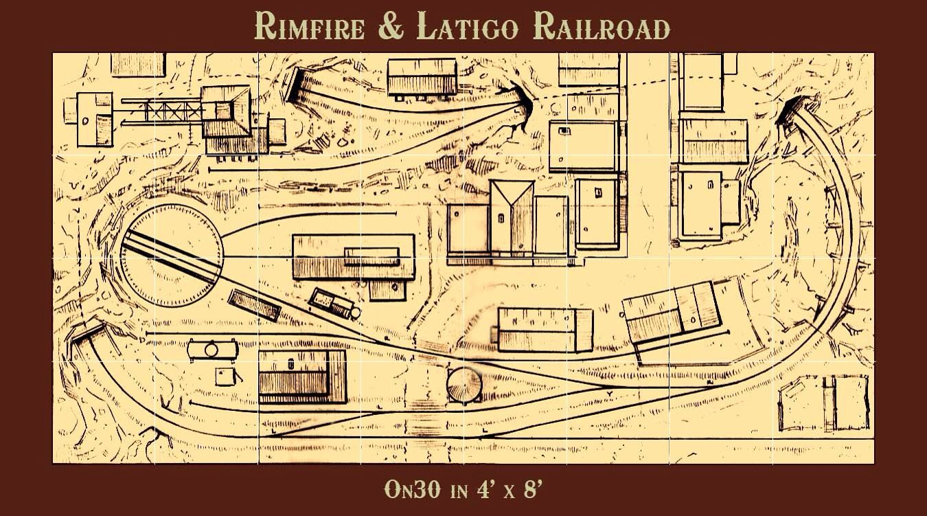 Rimfire latigo railroad on30 4x8 by thundermesa mining for N scale bedroom layout