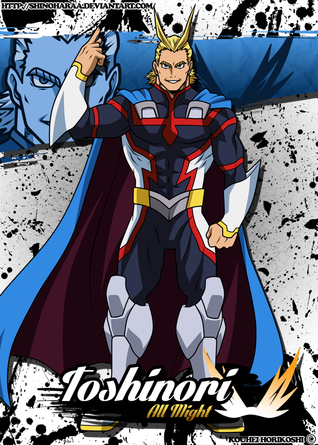 Prime All Might. (HD Image, reworked) My hero academia