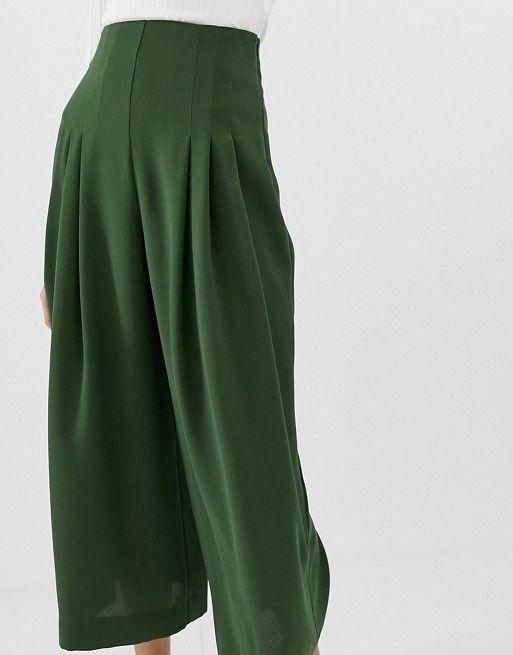DESIGN – Jupe-culotte avec pli sur le devant