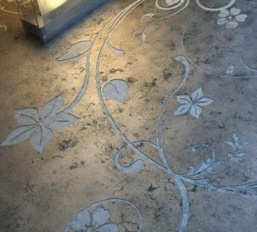 painted etched concrete love walkways dividers pinterest decorative concrete flooring ideas and love this