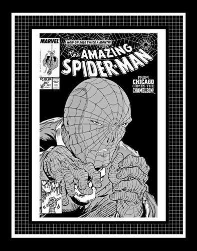 Todd Mcfarlane Amazing Spider Man 307 Rare Production Art Cover Monotone In 2021 Amazing Spider Todd Mcfarlane Spiderman