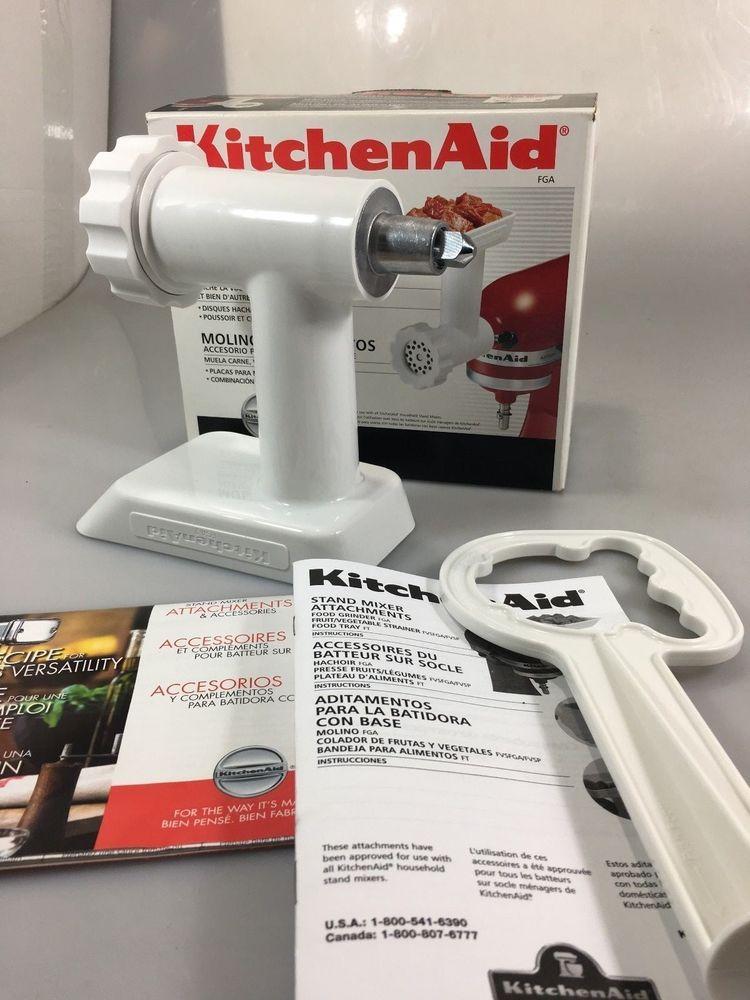 Kitchenaid fga food grinder stand mixer attachment 3