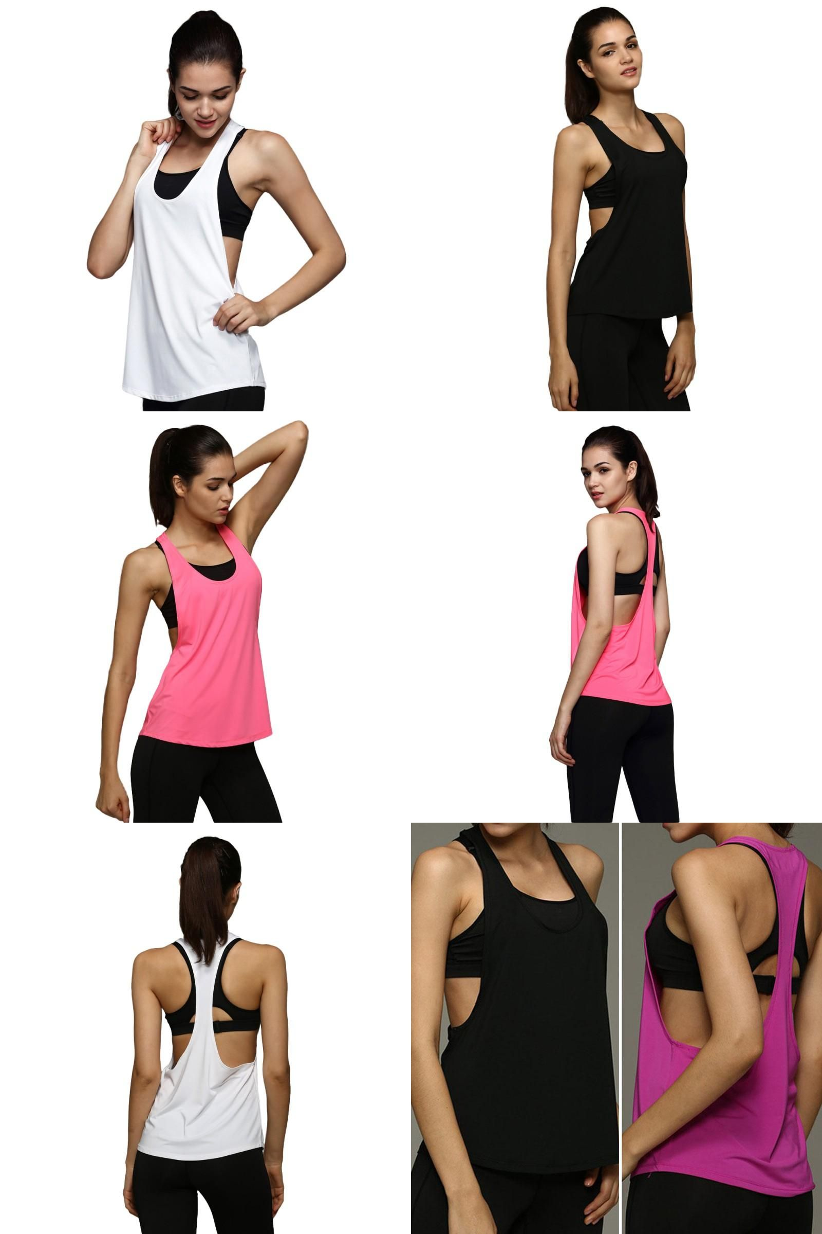 81a102ad48add  Visit to Buy  Summer Women Tank Tops Dry Quick Yoga Shirts Loose Gym  Fitness