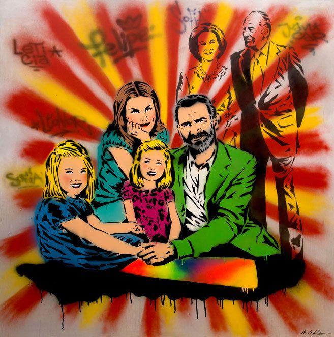 Resultado de imagen de la familia real de  españa dibujos graciosos