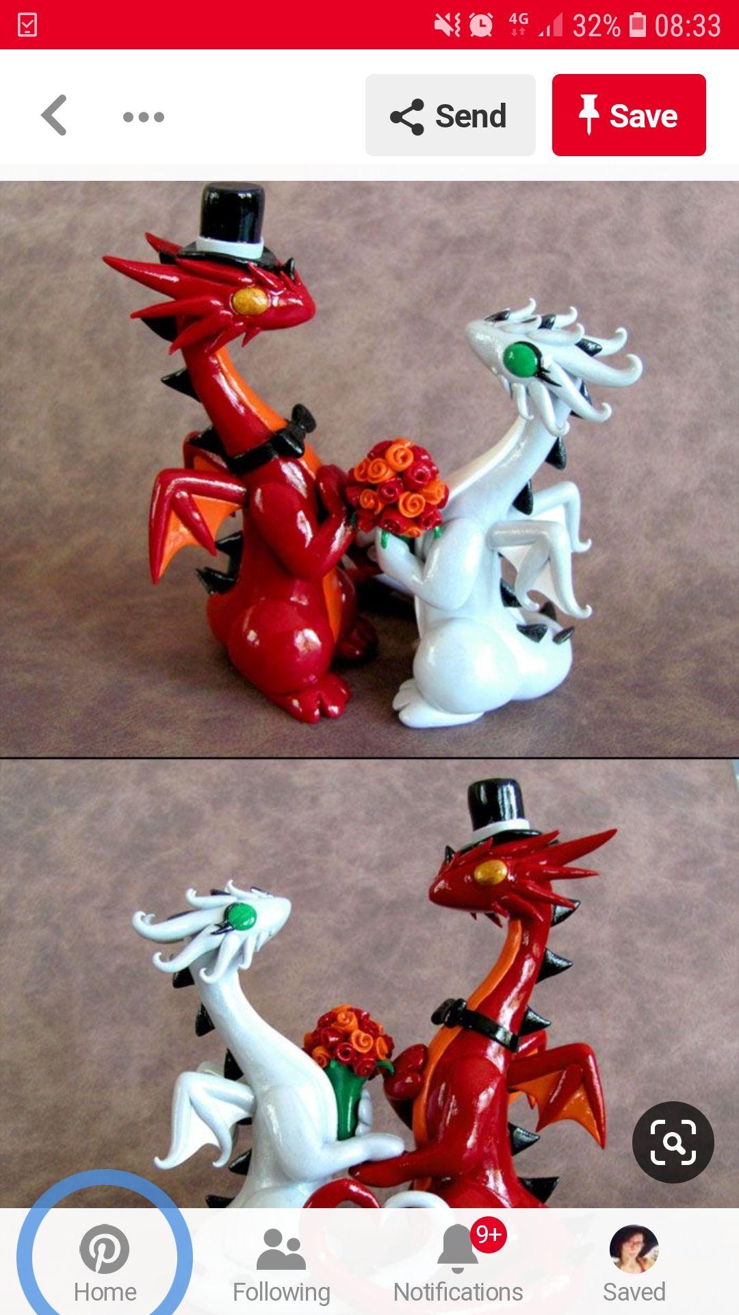 Pin By Rachel Wiser On Wedding Dragon Wedding Dragon Wedding Cake Clay Dragon