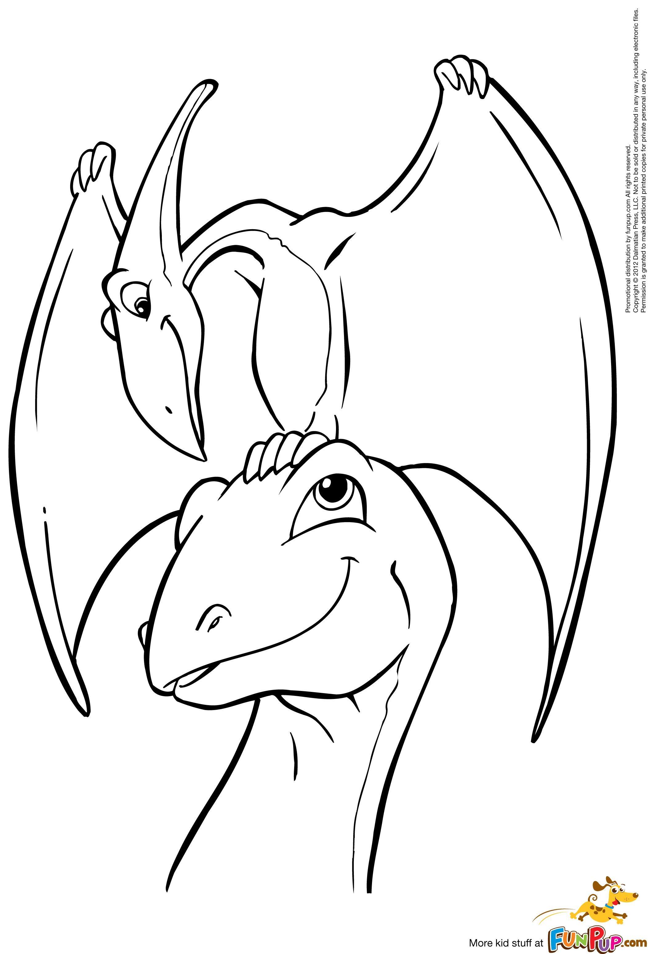 pterodactyl and apatosaurus 000  malvorlagen tiere