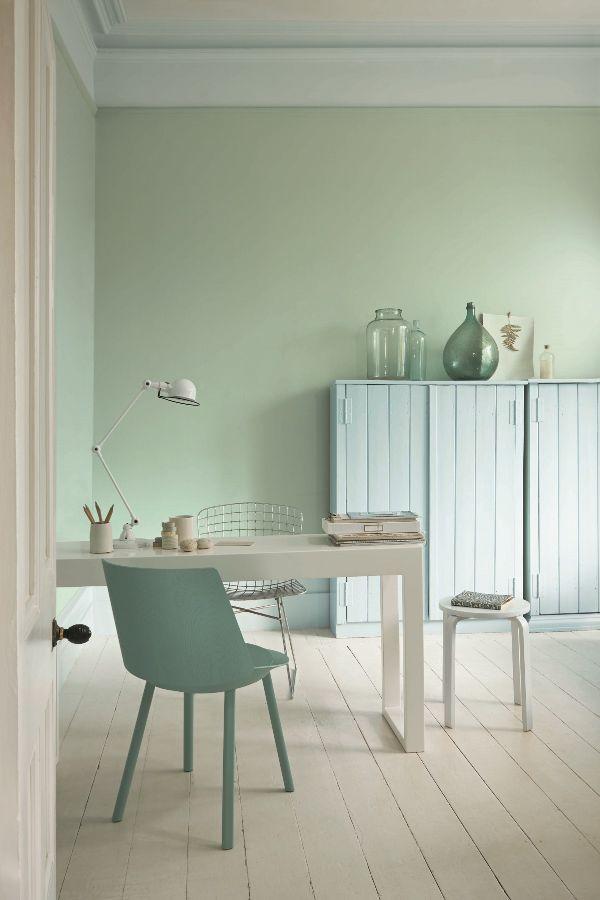 Sanderson Fountain Green Water Based Eggshell Paint Bedroom Walls