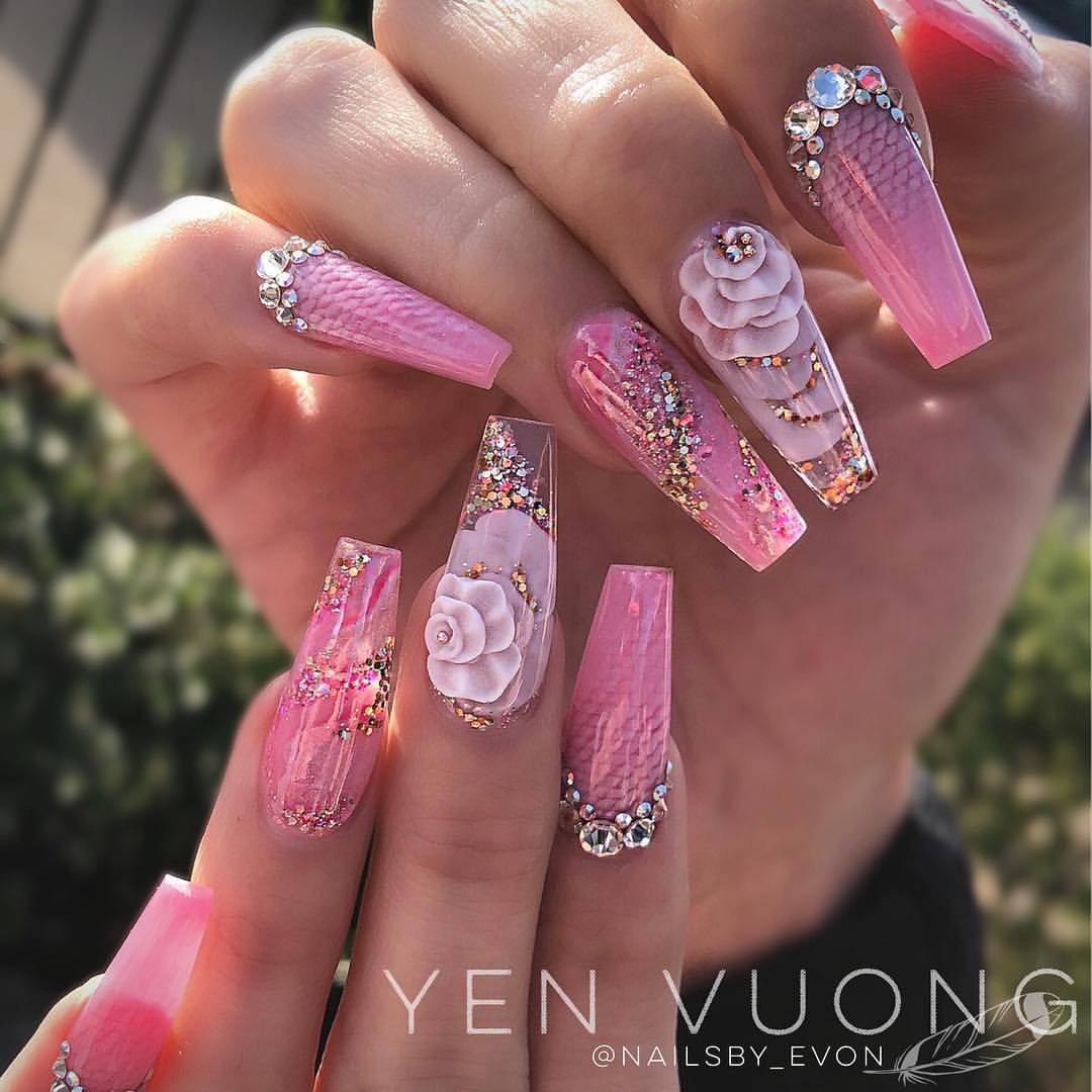Wow X2 These Are Fabulous Love This Nail Art In Pink I See A