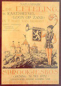 Poster van de opening van het Sprookjesbos. Designed by Anton Pieck.