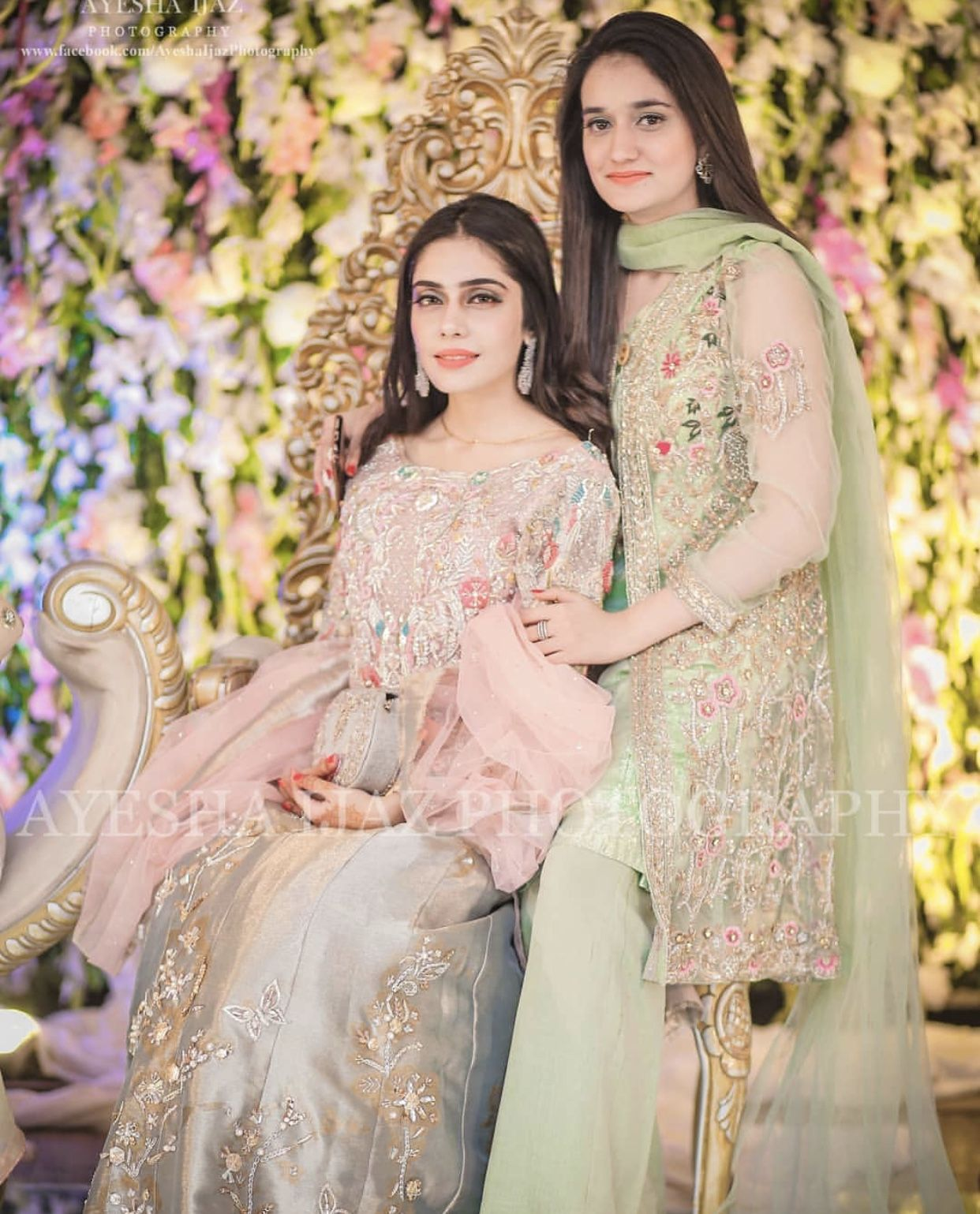 Grooms sister and cousin Pakistani wedding dresses