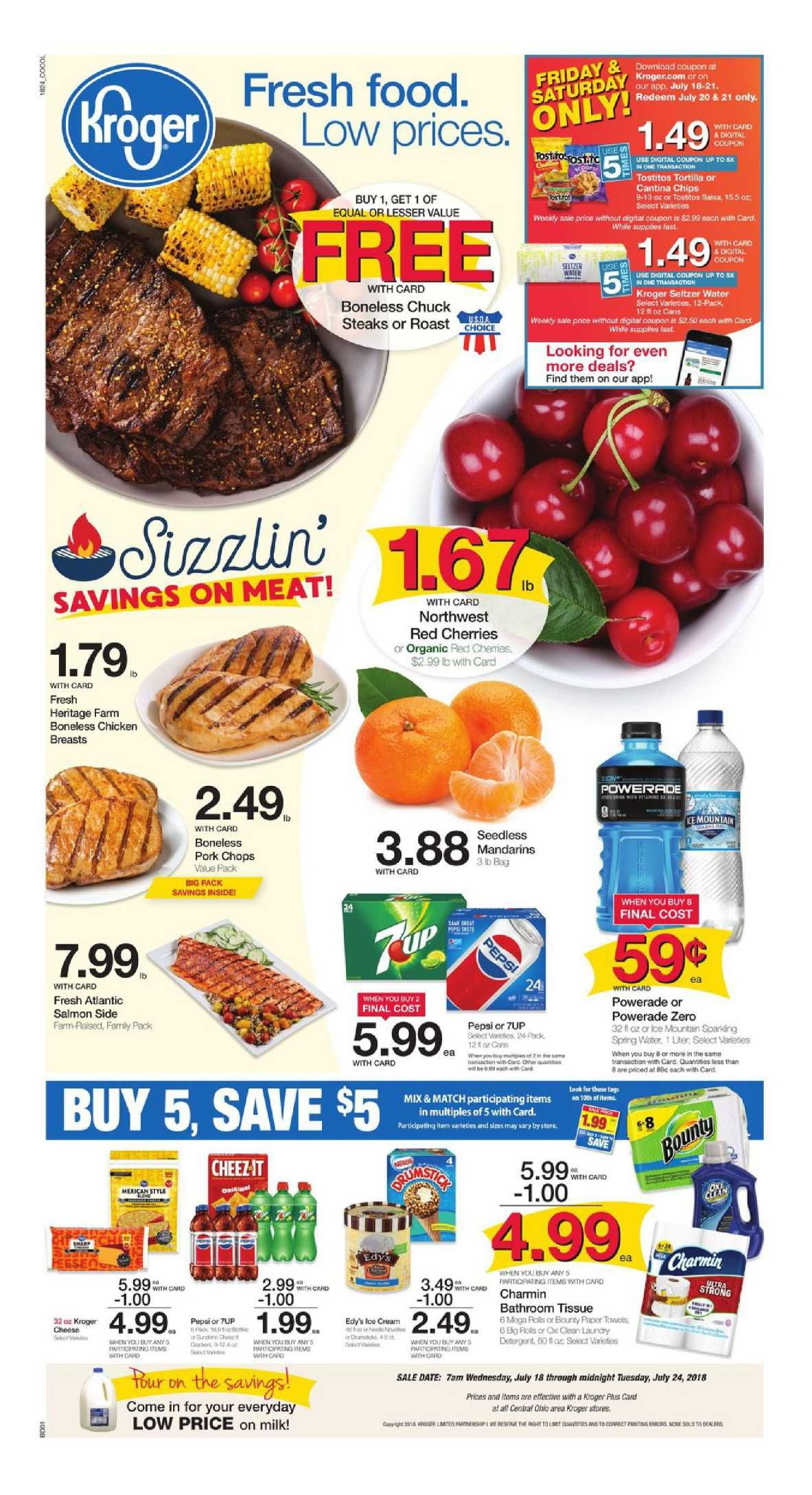 Kroger Weekly Ad Flyer March 11 17 2020 Weeklyad123 Com Kroger Food Menu Grocery Savings