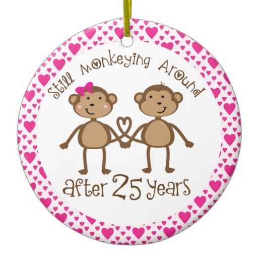 25 Year Wedding Anniversary Gift Ideas: 25th Anniversary Gift Ornament