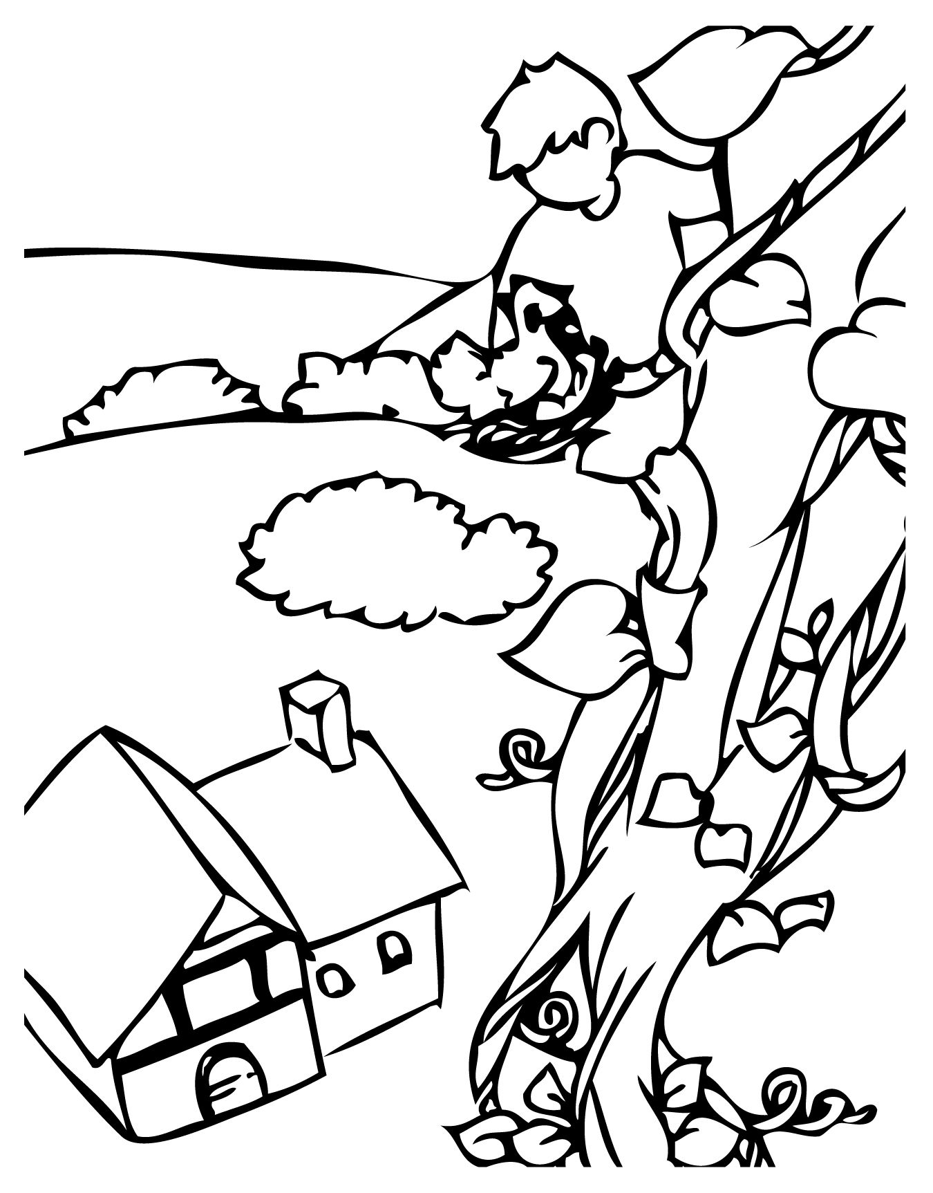 Jack And The Beanstalk Coloring Page Handipoints Clipart Best