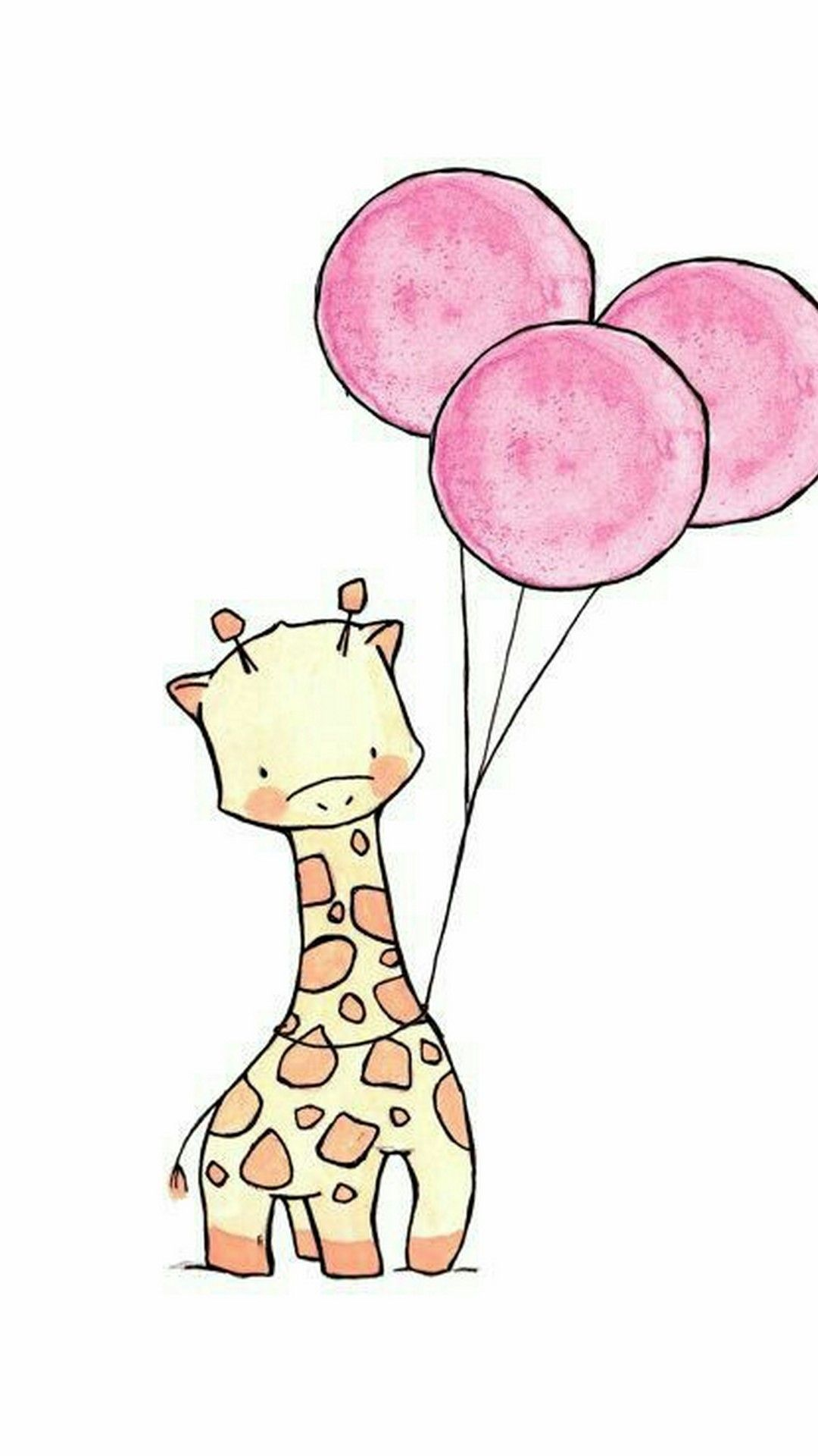 Giraffe Wallpaper Cartoon iPhone - Best iPhone Wallpaper