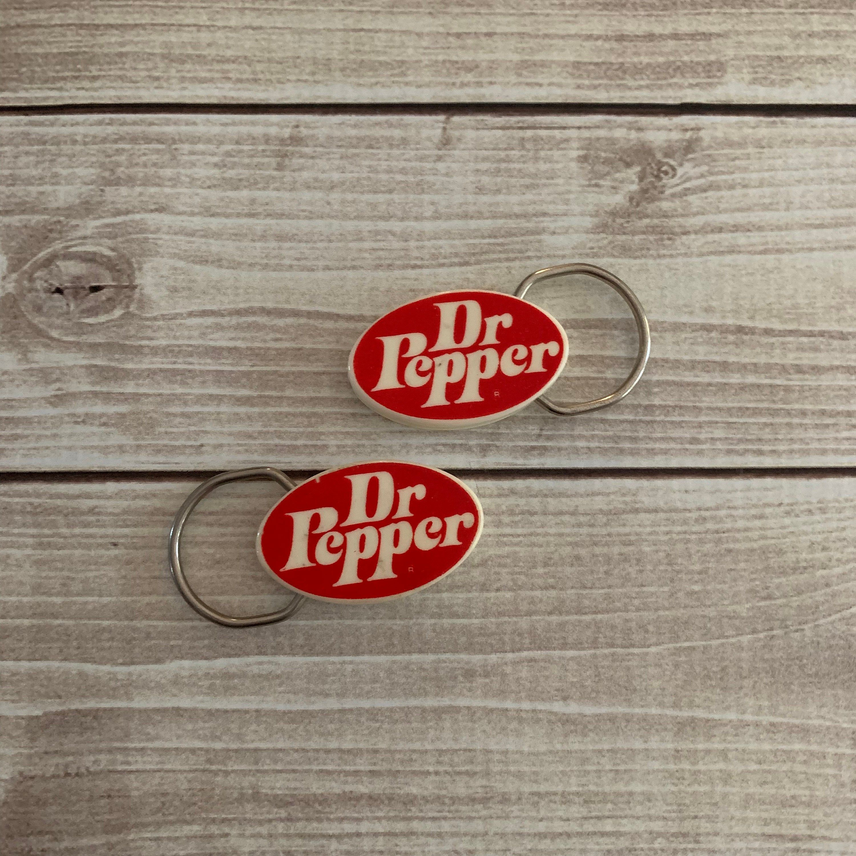 Dr Pepper Keychain Two Dr Pepper Key Rings Vintage Vintage Dr Pepper Promotional Advertising 70s Dr Pepp Wine Glass Charms Hand Crafted Gifts Custom Wine