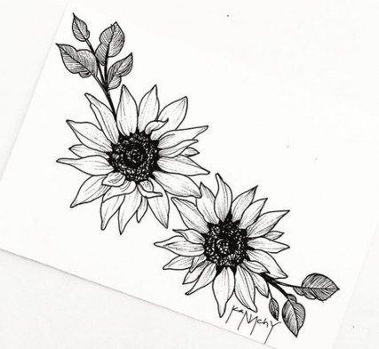 58 trendy flowers sketch tattoo middle