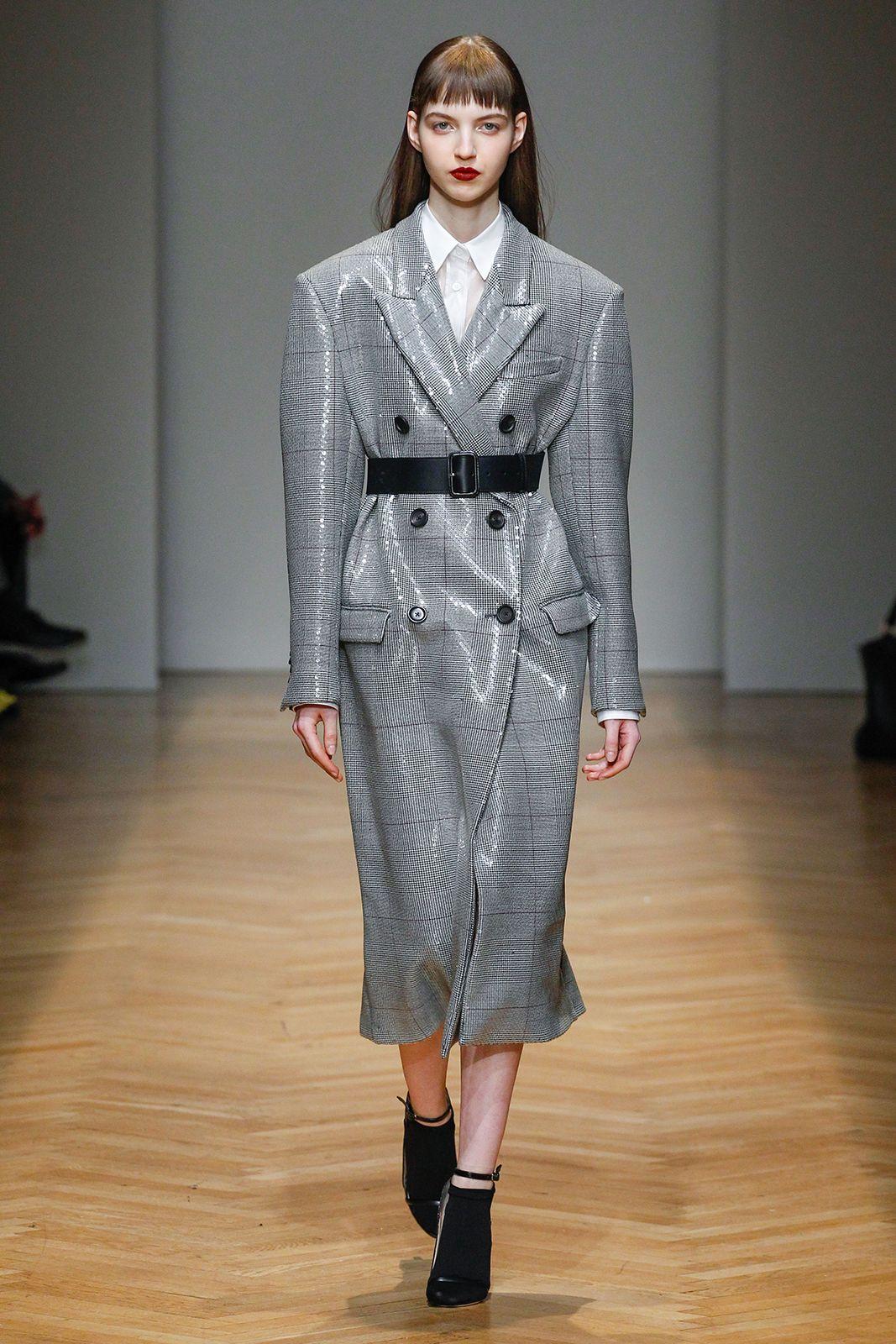 Shining  sequins coat for AquilanoRimondi FallWinter 2017-18 collection.